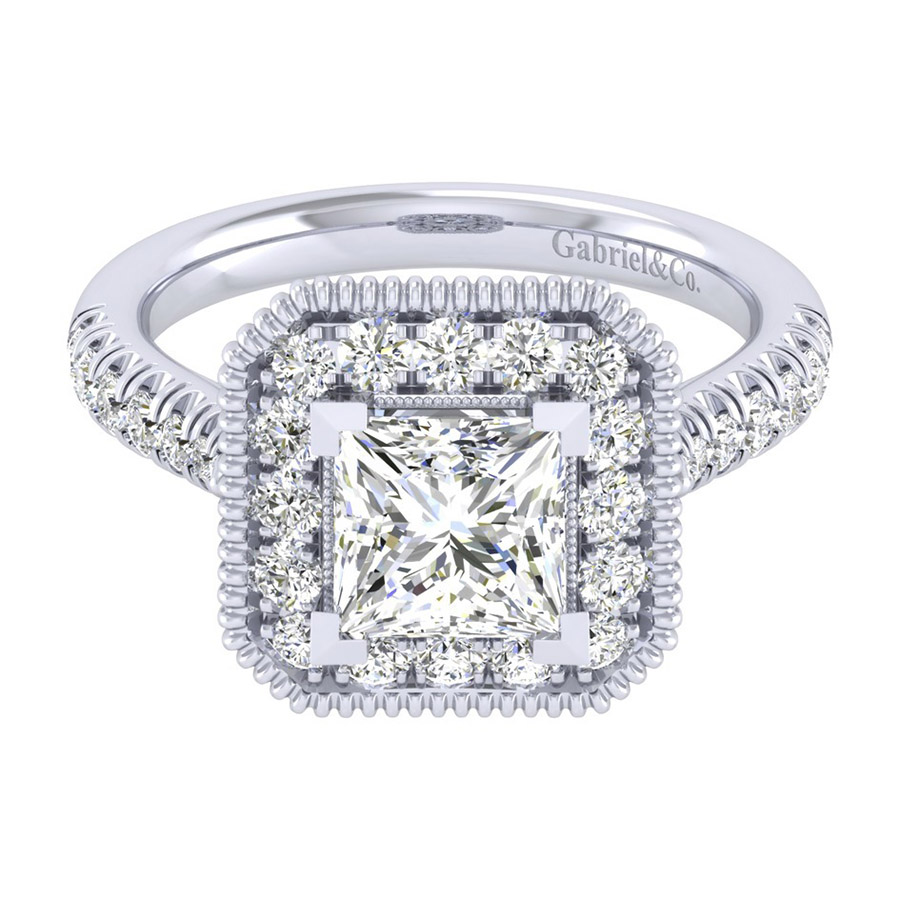 Gabriel 14 Karat Perfect Match Engagement Ring ER039C6ALW44JJ