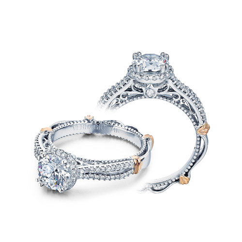 Verragio Parisian-110R Platinum Engagement Ring