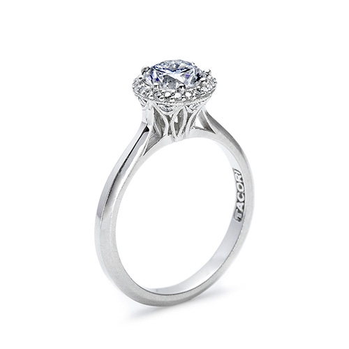Tacori Platinum Solitaire Engagement Ring 2502RD7 Alternative View 1