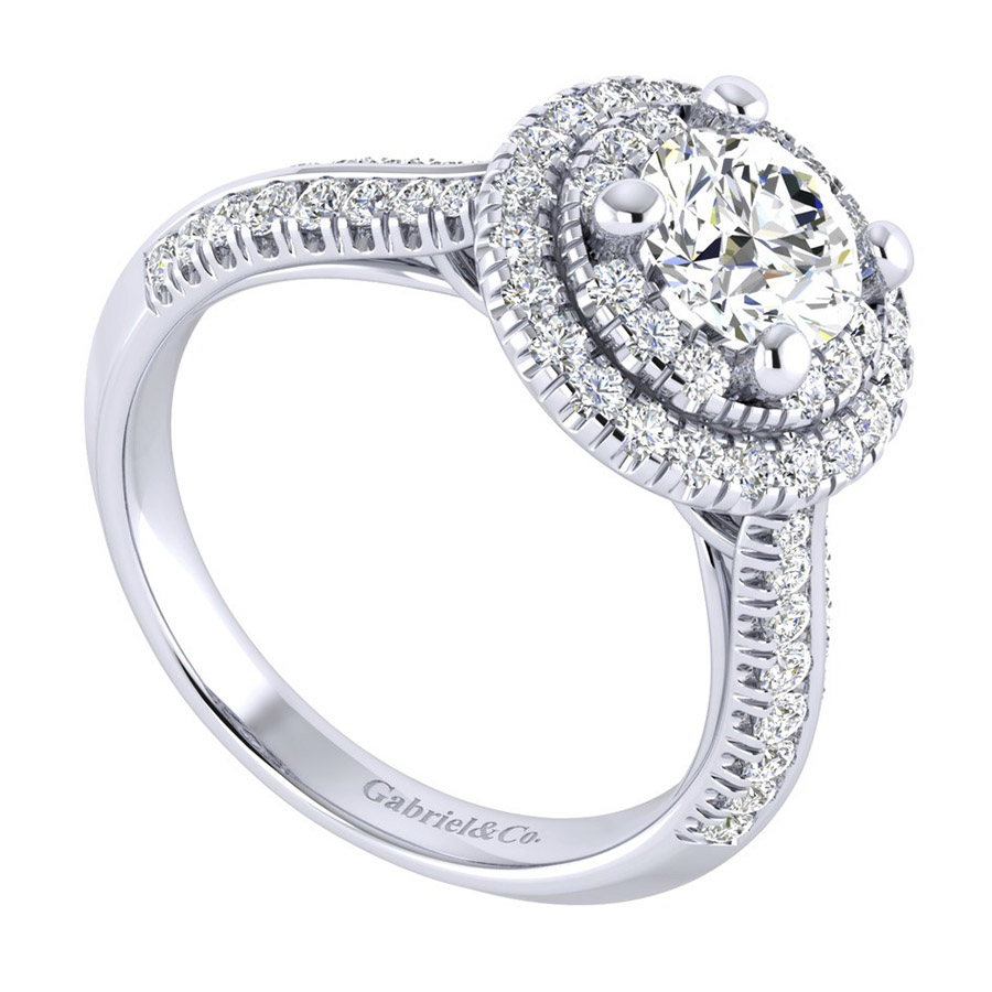Gabriel 14 Karat Perfect Match Engagement Ring ER002B4AIW44JJ Alternative View 2