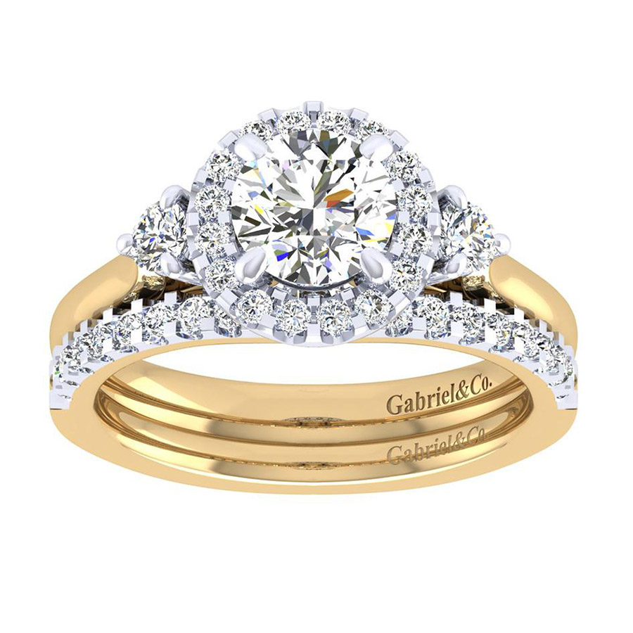 Gabriel 14 Karat Contemporary Wedding Band WB7482M44JJ Alternative View 3