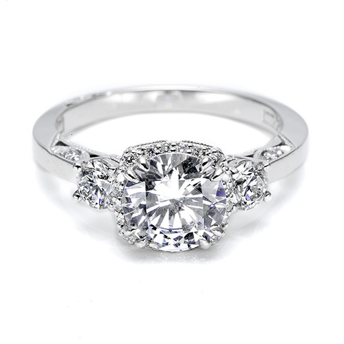 Tacori Platinum Dantela Engagement Ring 2623RDPT