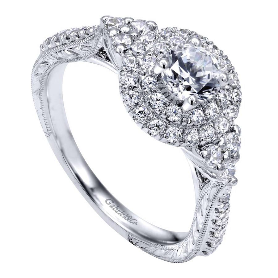 Gabriel 14 Karat Victorian Engagement Ring ER910087W44JJ Alternative View 2