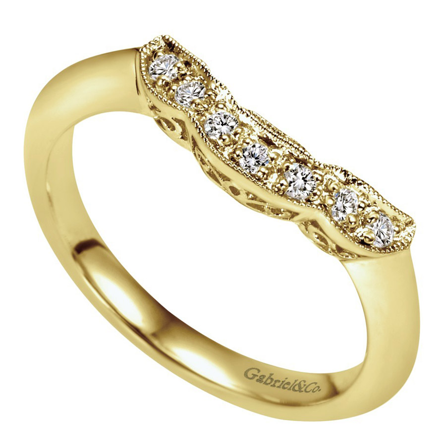 Gabriel 14 Karat Contemporary Wedding Band WB3819Y44JJ Alternative View 2