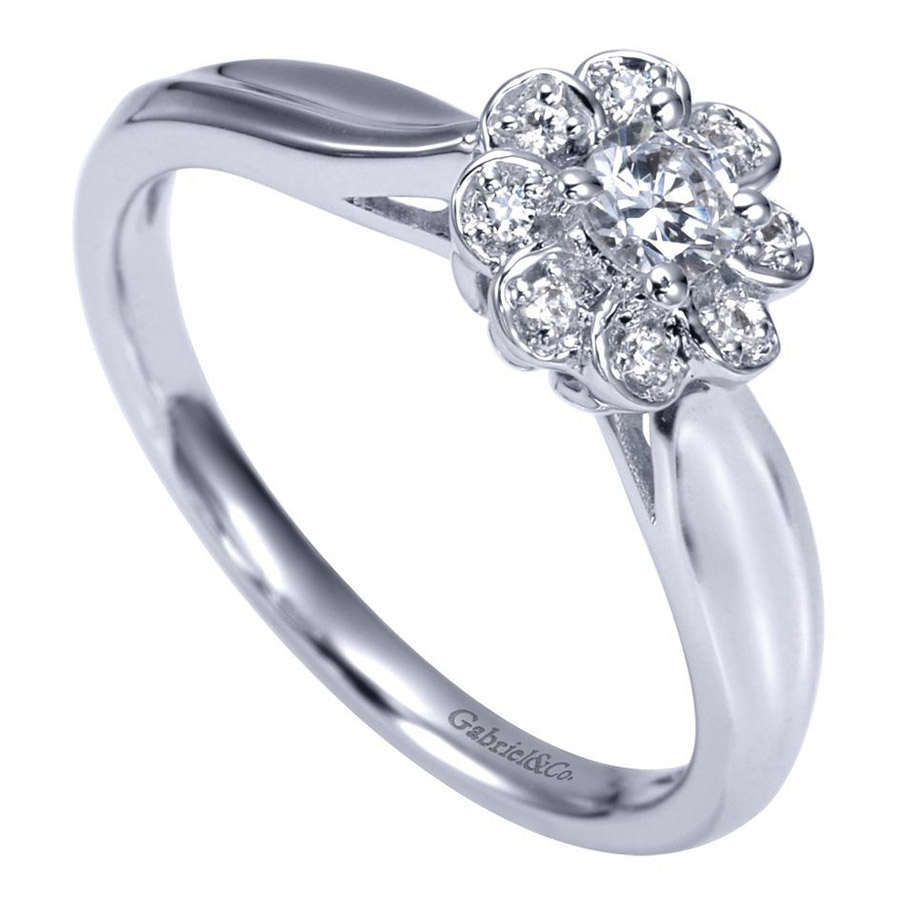 Gabriel 14 Karat Contemporary Engagement Ring ER98421W44JJ Alternative View 2