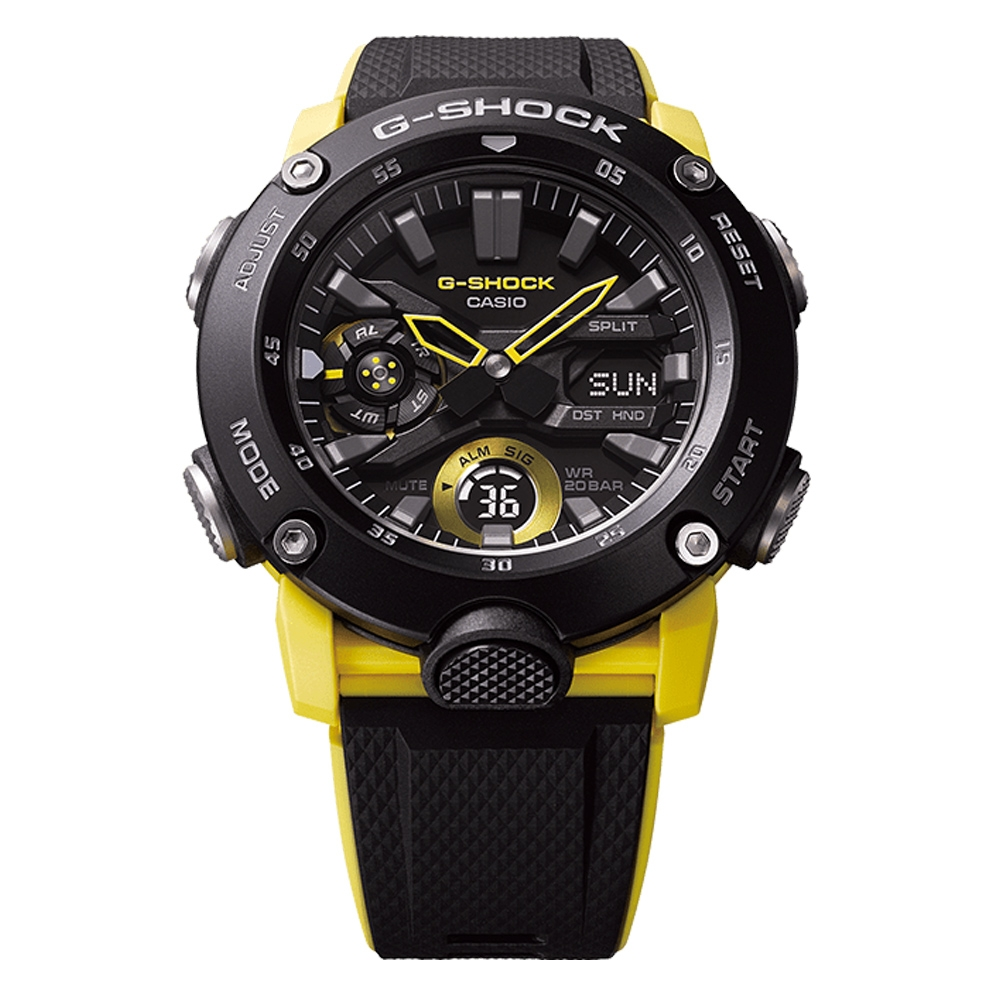 Casio GA2000-1A9 G-Shock Carbon Core Guard Watch Alternative View 2