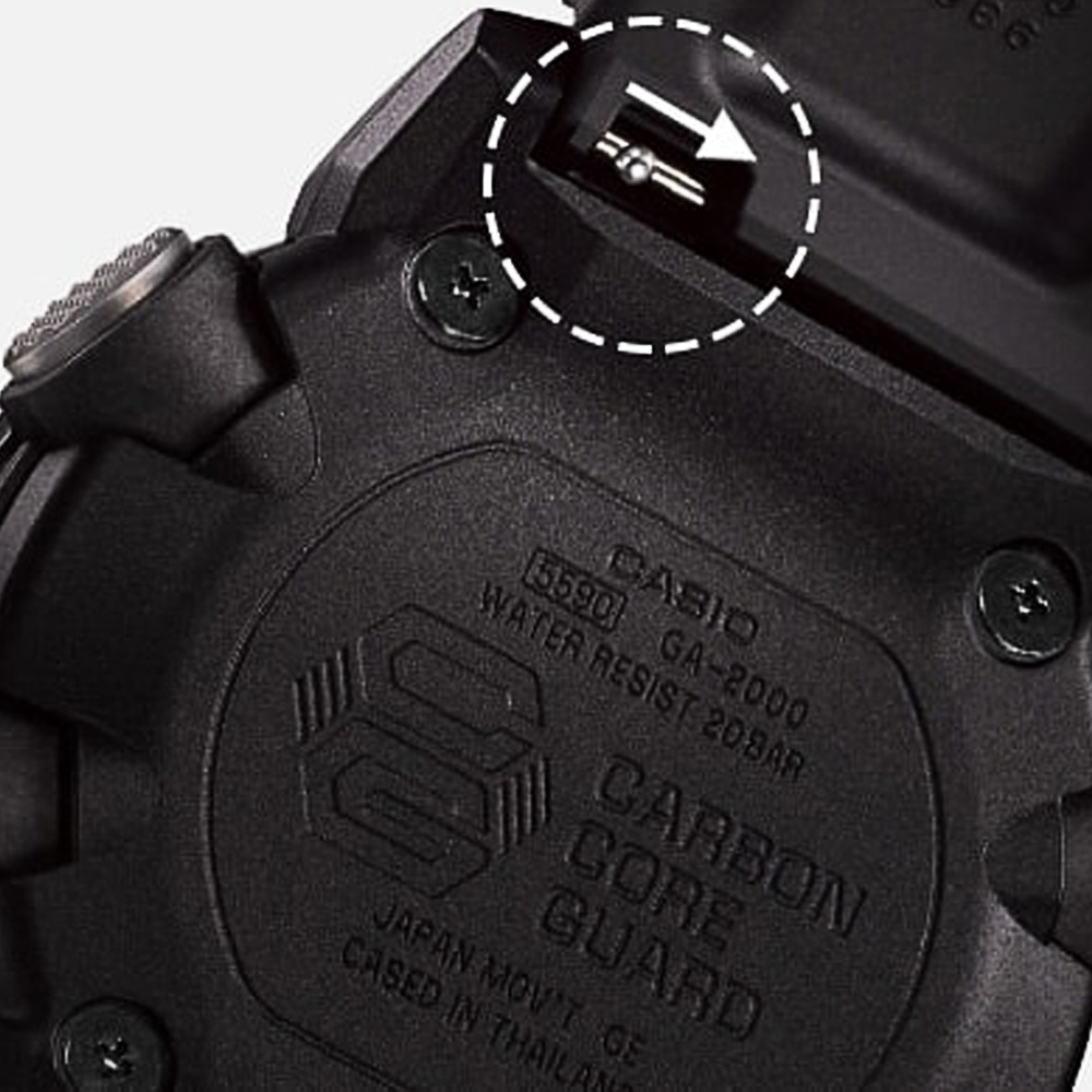 Casio GA2000-1A9 G-Shock Carbon Core Guard Watch Alternative View 5
