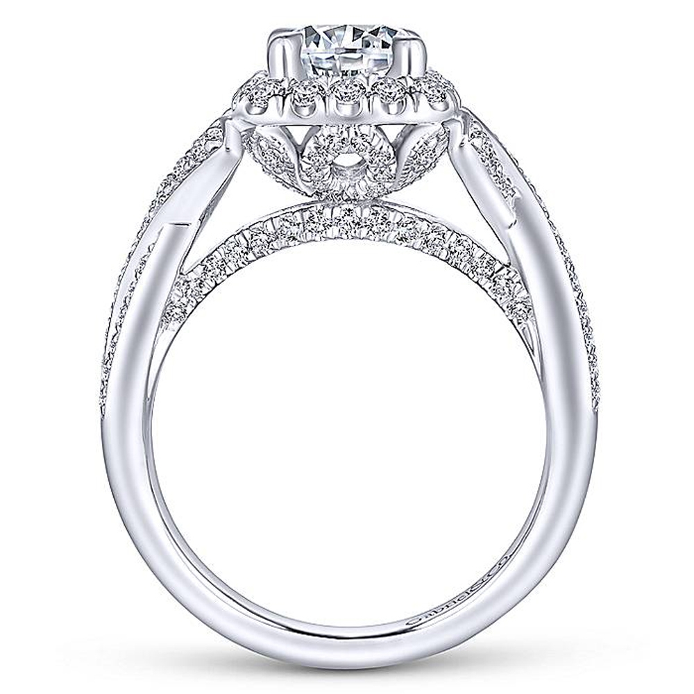 Gabriel 14 Karat Round Halo Engagement Ring ER13886R4W44JJ Alternative View 5
