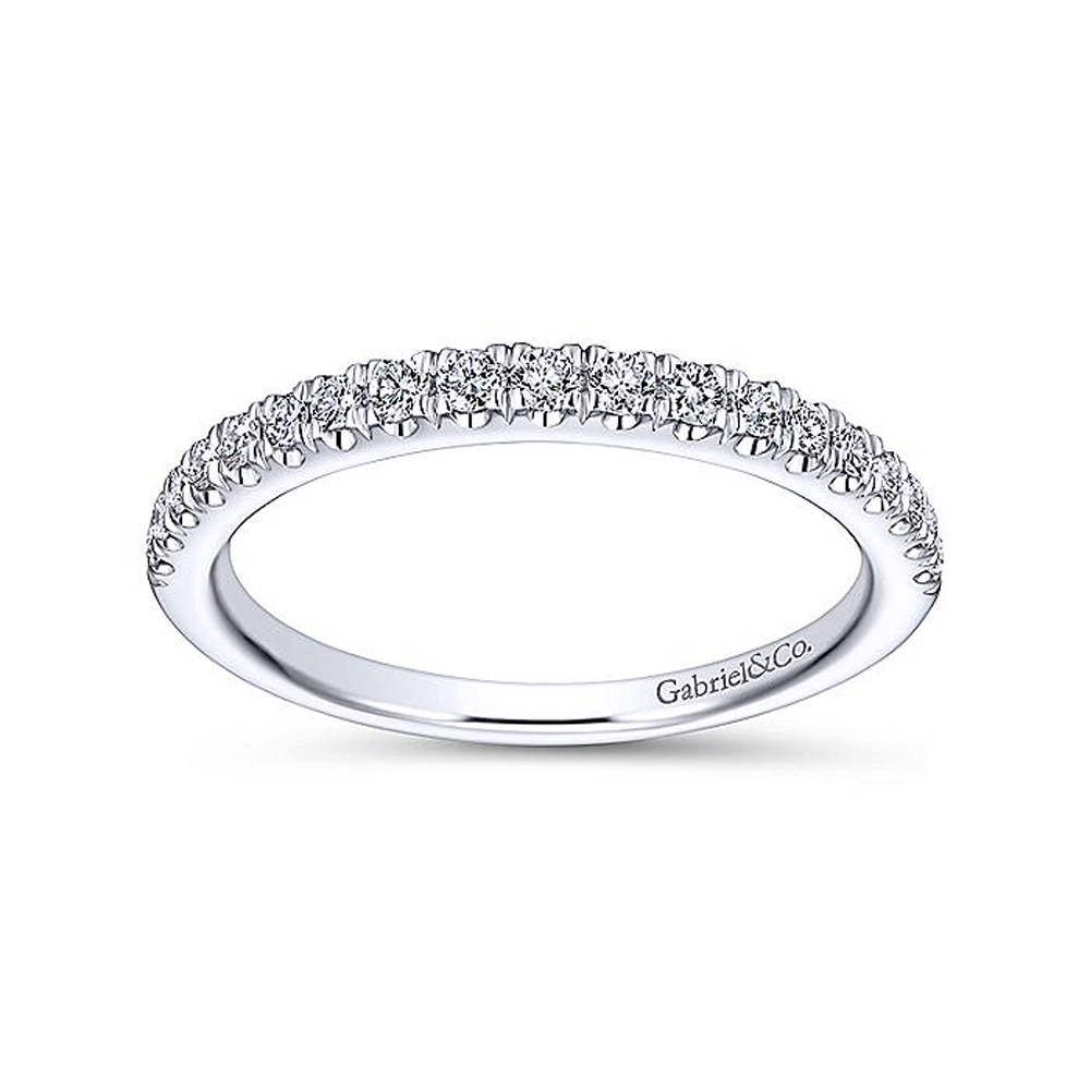 Gabriel 14 Karat White Gold Straight Wedding Band WB13882C4W44JJ Alternative View 4