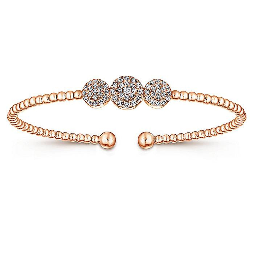 Gabriel Fashion 14 Karat Diamond Bujukan Bangle Bracelet BG4114K45JJ