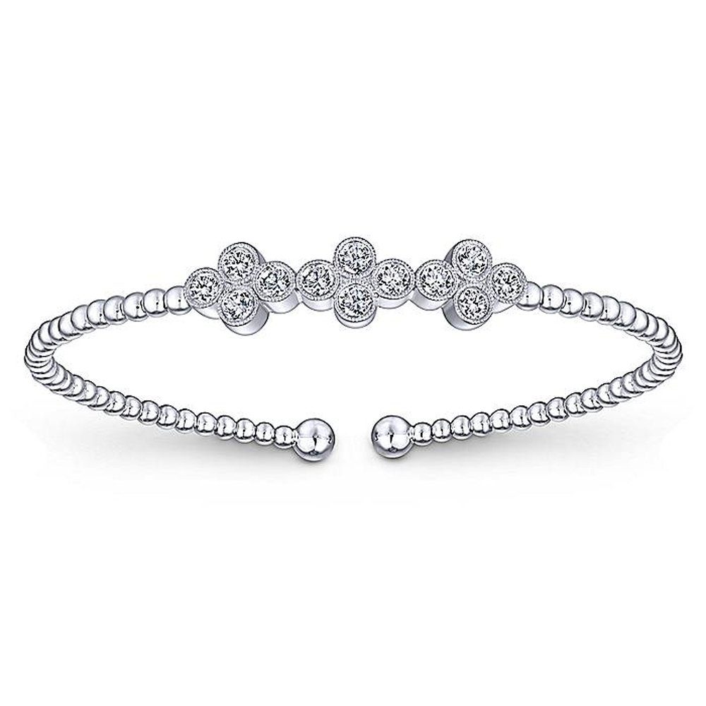 Gabriel Fashion 14 Karat Diamond Bujukan Bangle Bracelet BG4115W45JJ
