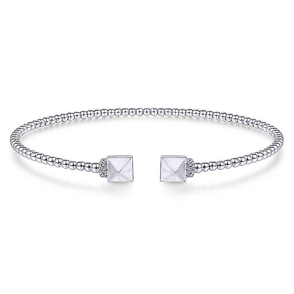 Gabriel Fashion 14 Karat Diamond Bujukan Bangle Bracelet BG4255-6W45JJ