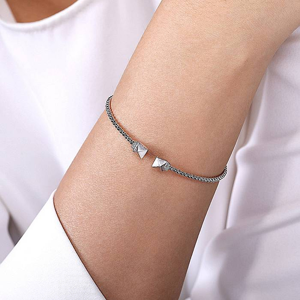 Gabriel Fashion 14 Karat Diamond Bujukan Bangle Bracelet BG4255-6W45JJ Alternative View 3