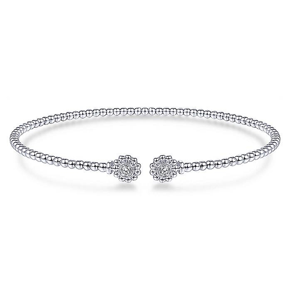 Gabriel Fashion 14 Karat Diamond Bujukan Bangle Bracelet BG4261-6W45JJ