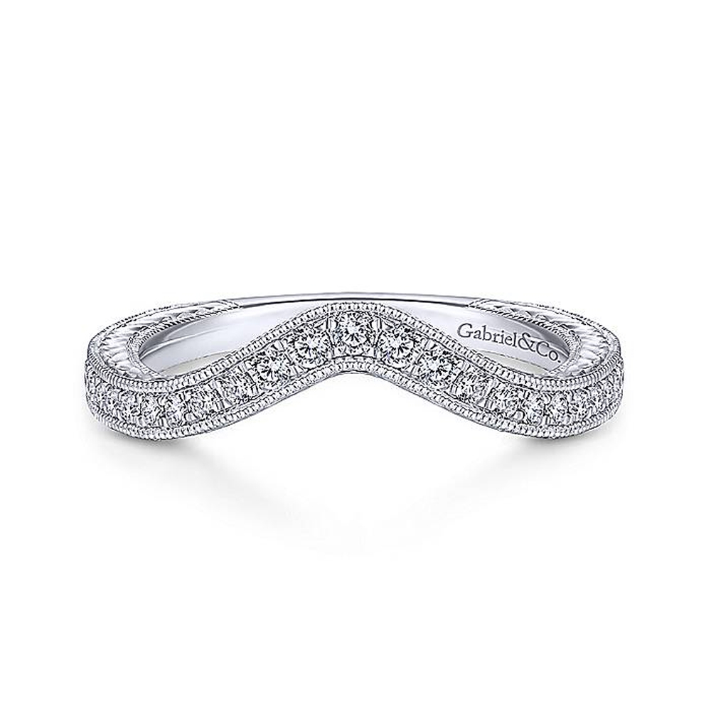 Gabriel 14 Karat Victorian Wedding Band WB14451R4W44JJ