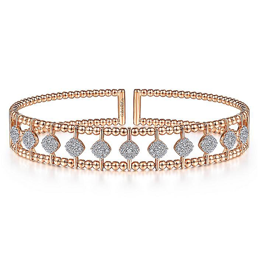 Gabriel Fashion 14 Karat Diamond Bujukan Bangle Bracelet BG4232-6K45JJ