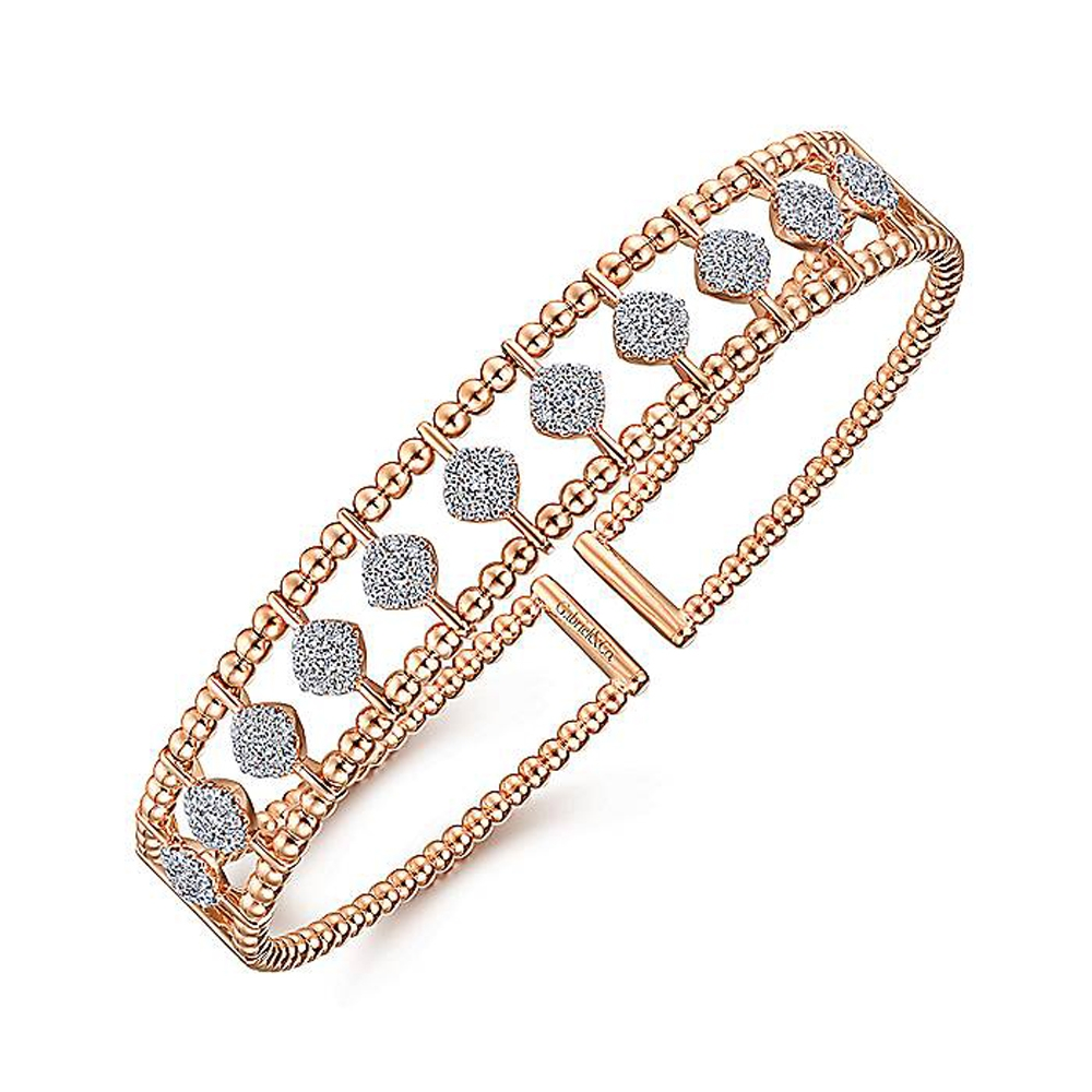 Gabriel Fashion 14 Karat Diamond Bujukan Bangle Bracelet BG4232-6K45JJ Alternative View 1