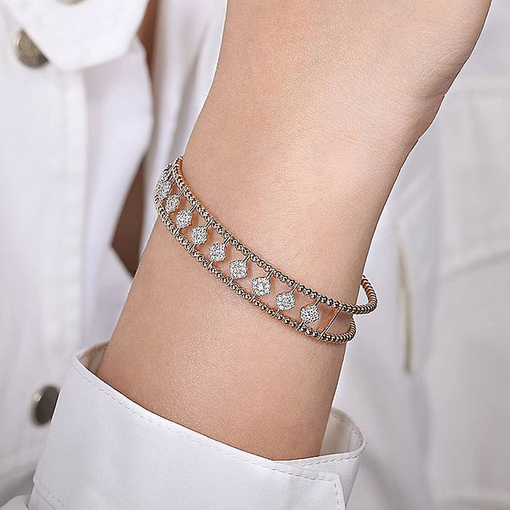 Gabriel Fashion 14 Karat Diamond Bujukan Bangle Bracelet BG4232-6K45JJ Alternative View 3