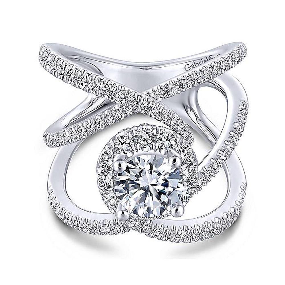969ca14d52749 Gabriel 18 Karat Round Halo Engagement Ring ER13842R4W84JJ