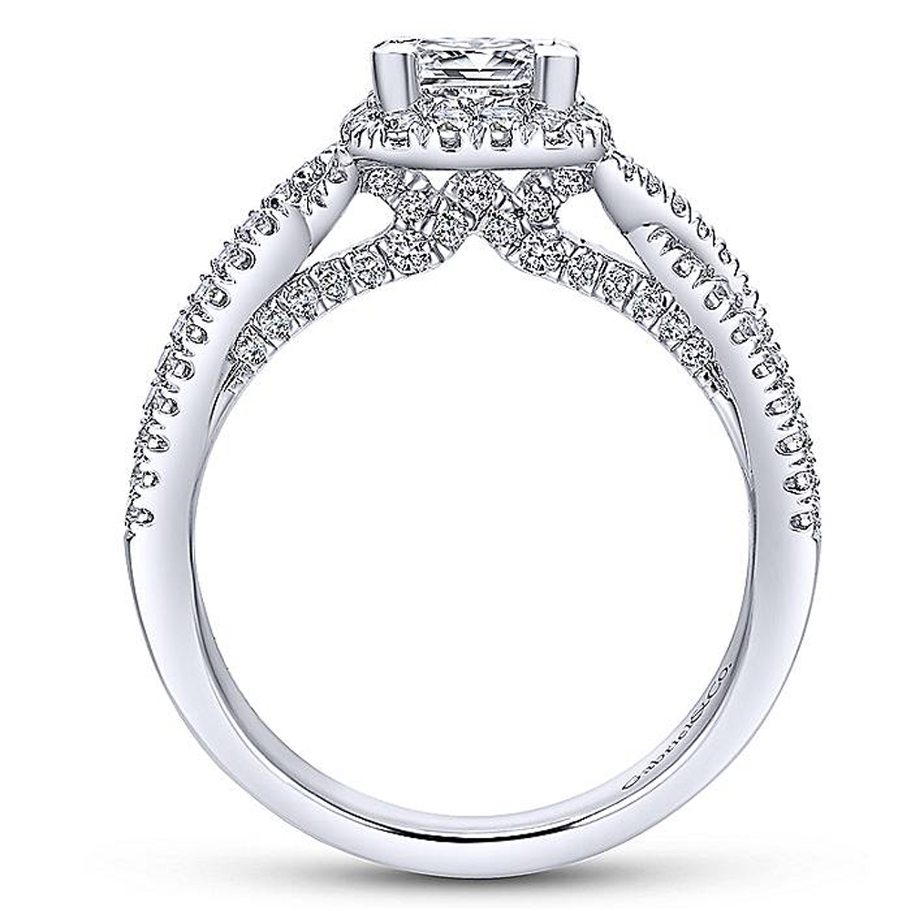 Gabriel 14 Karat Princess Cut Halo Engagement Ring ER12600S3T44JJ Alternative View 1