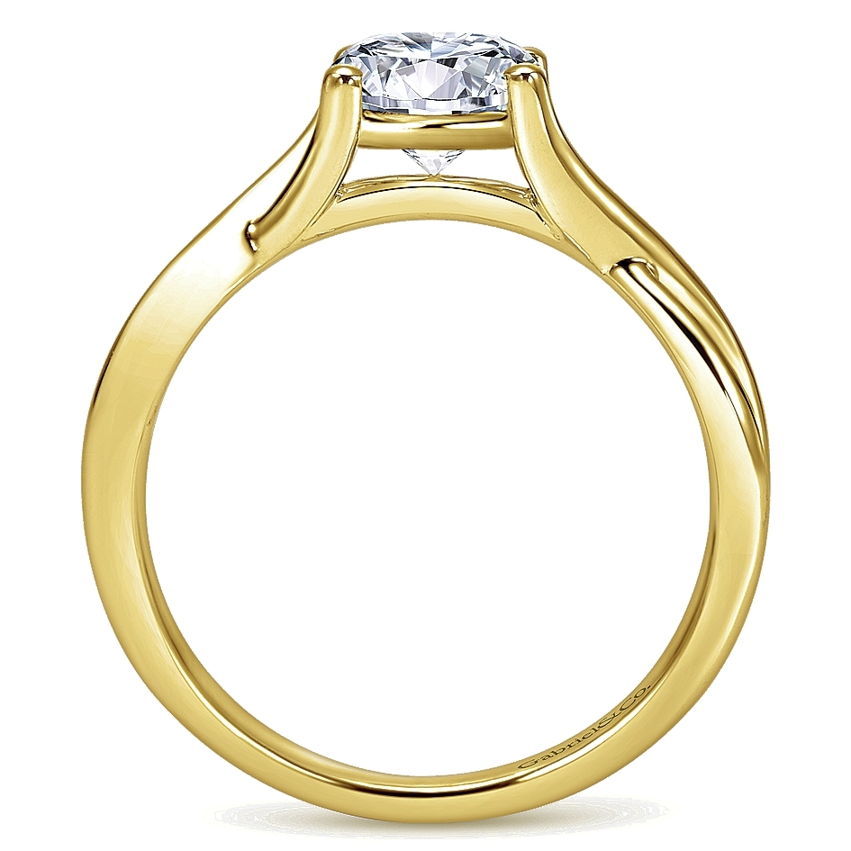 Gabriel 14 Karat Contemporary Engagement Ring ER7517Y4JJJ Alternative View 1