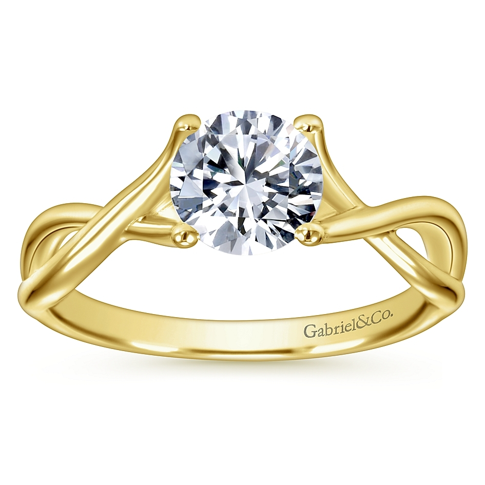 Gabriel 14 Karat Contemporary Engagement Ring ER7517Y4JJJ Alternative View 4