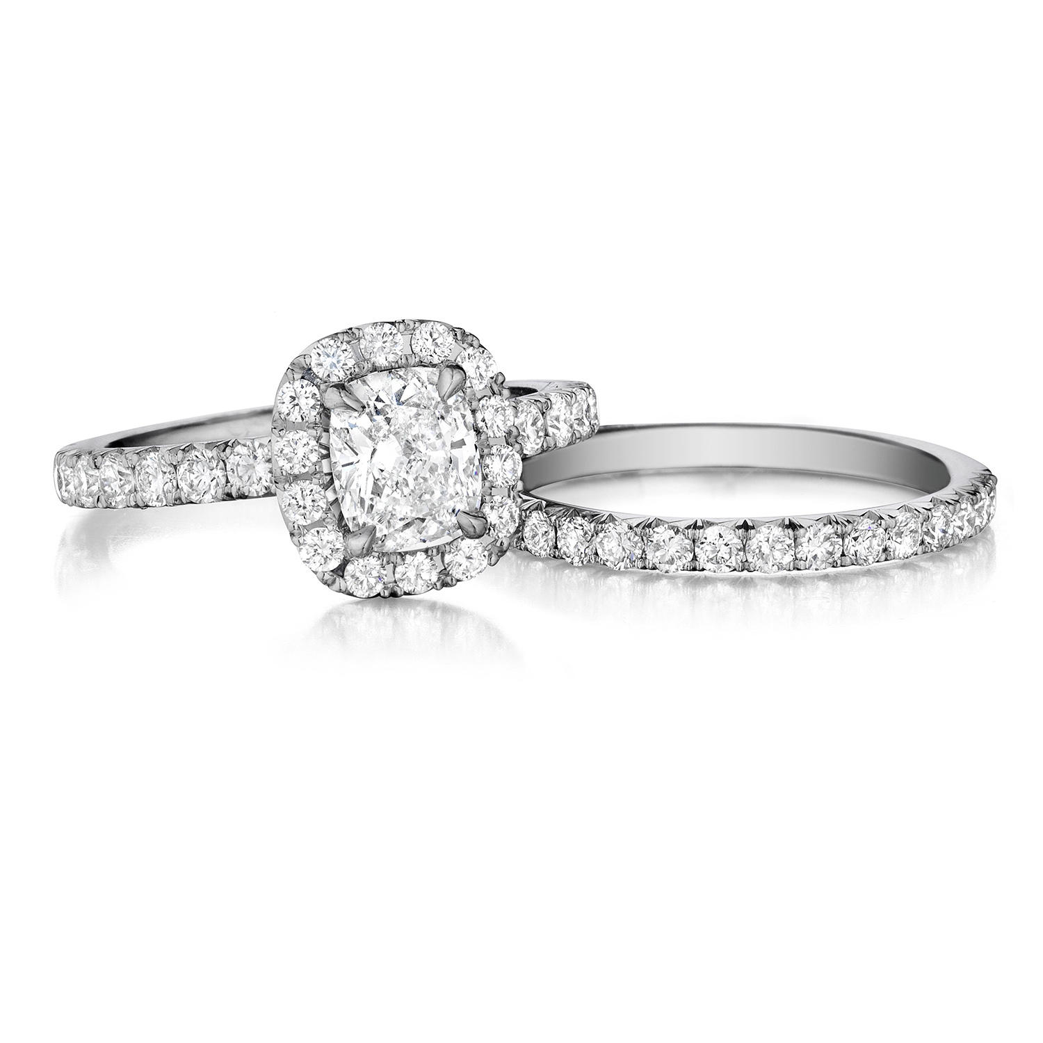 Henri Daussi AHWS Cushion Halo Diamond Engagement Ring Alternative View 2