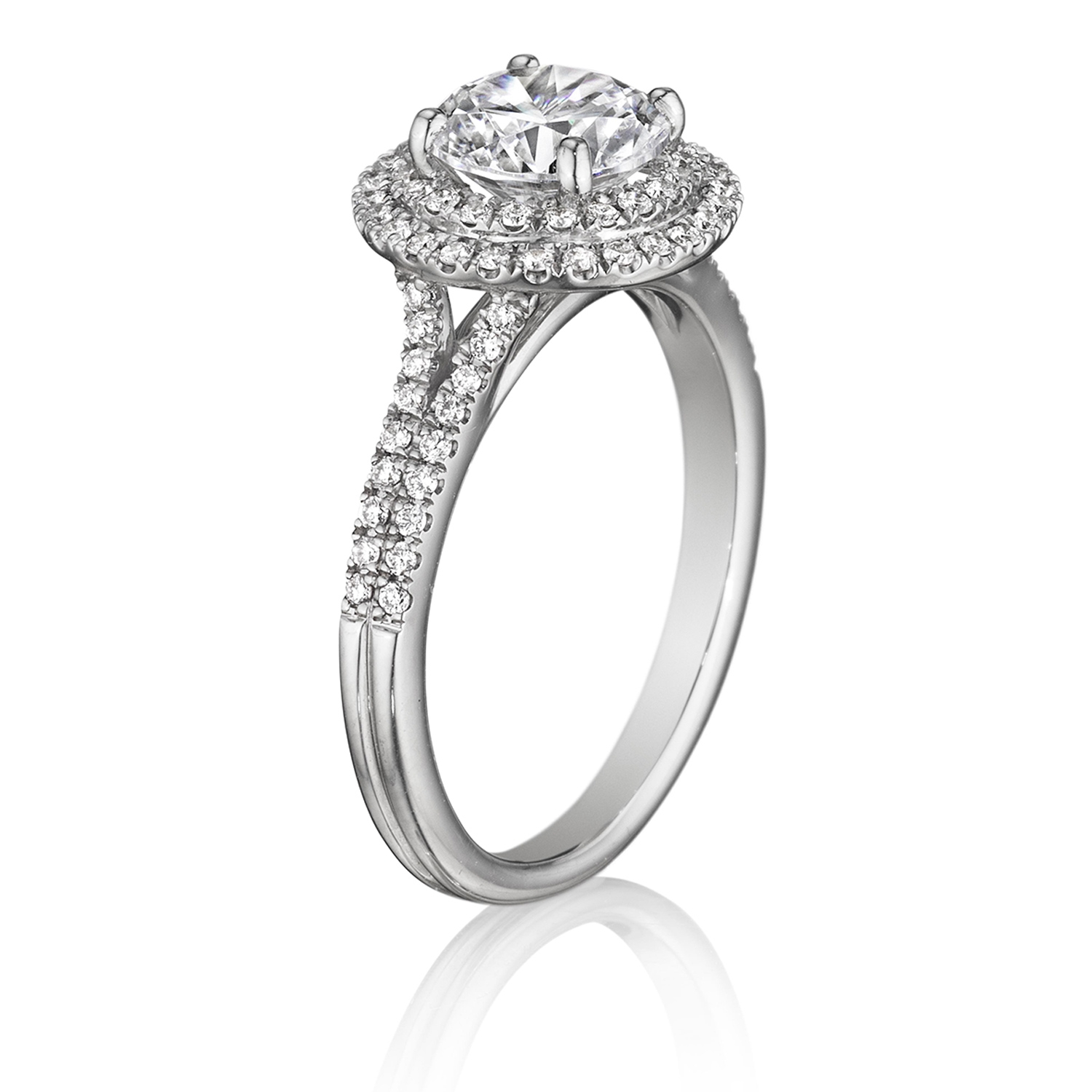 split shank ritani engagement rings cushion ring halo