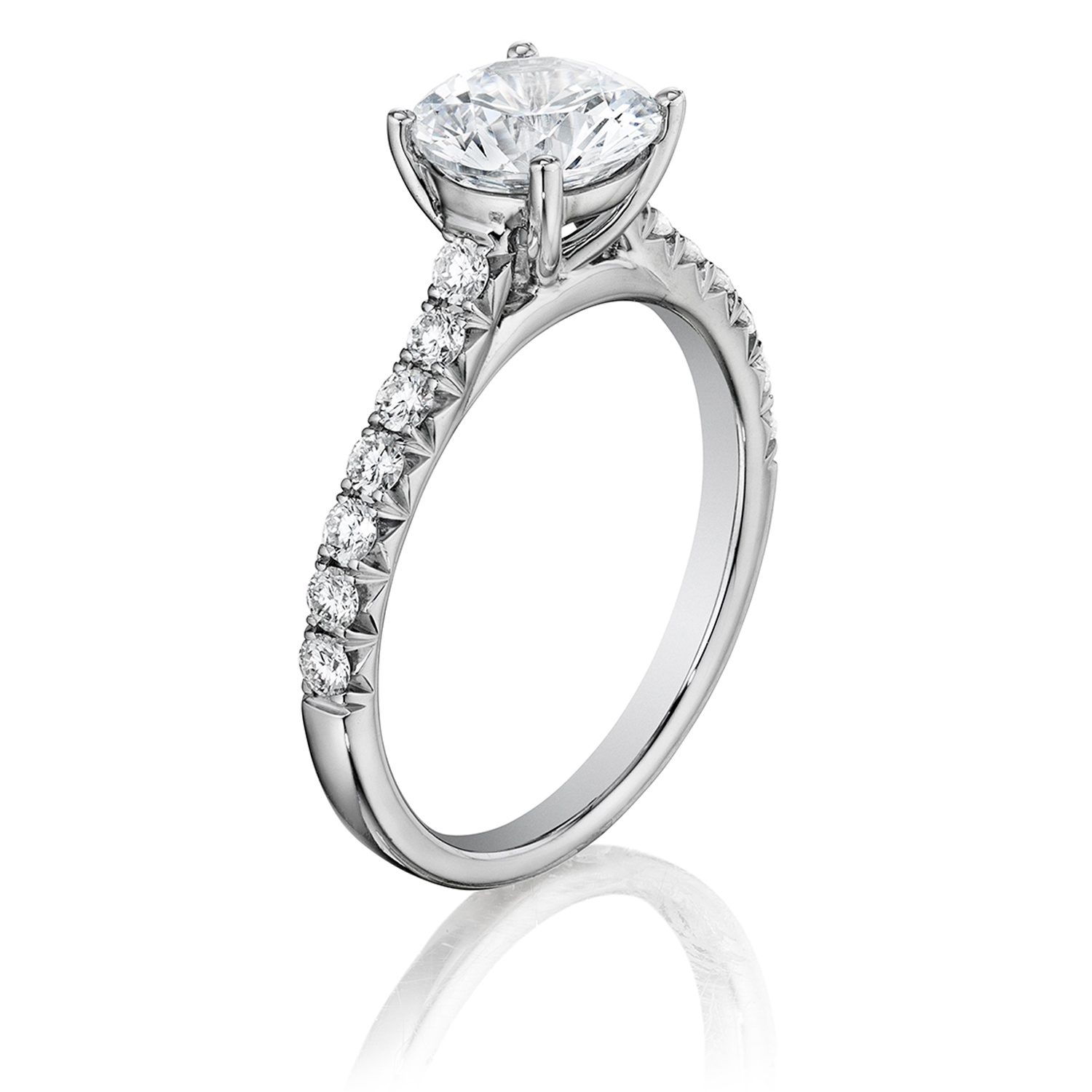 solitaire rings ring engagement gold womens diamond chimento white