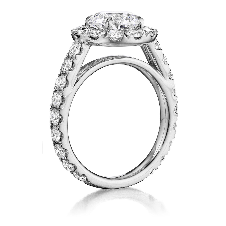 Henri Daussi Bwsb Round Halo Diamond Engagement Ring