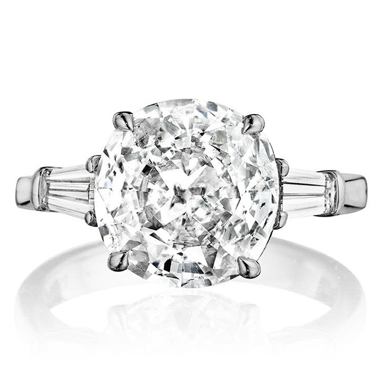 diamond three by ring baguette engagement london rings two round tapered stone and