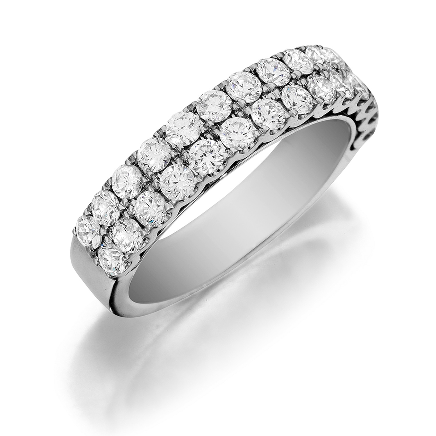 Henri Daussi R17 Double Row Pave Set Diamond Band