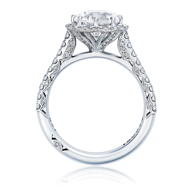 Ht2555rd8 Platinum Tacori Petite Crescent Engagement Ring