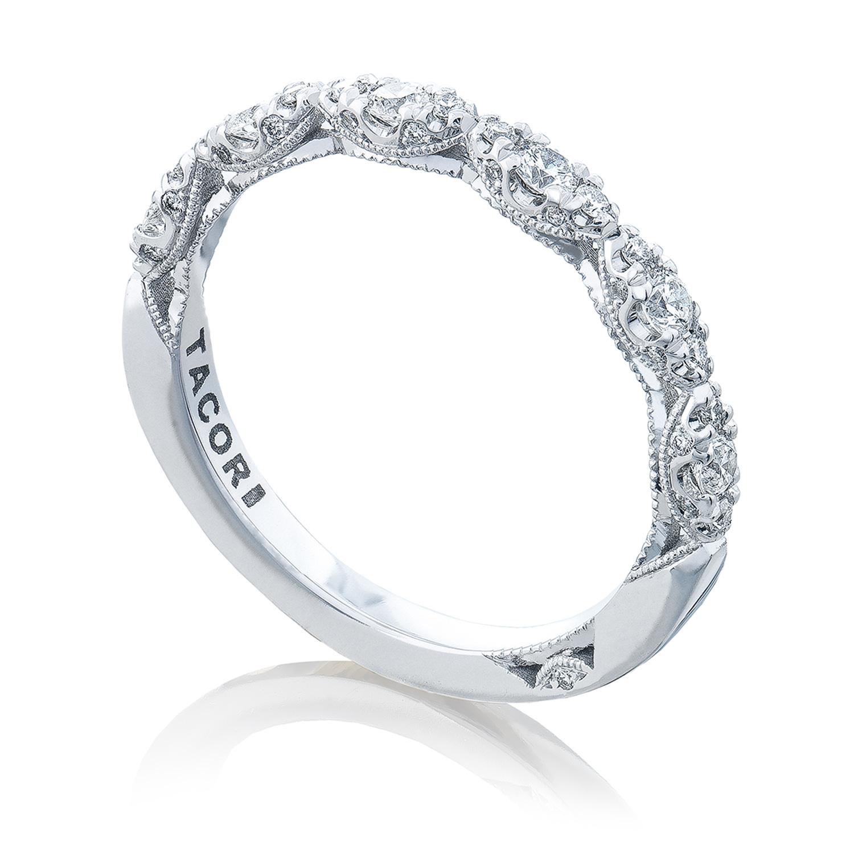 tacori ht2558b12 18 karat petite crescent diamond wedding band alternative view 2 - Tacori Wedding Rings