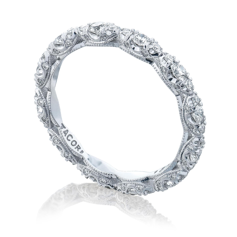 ht2558b platinum tacori petite crescent diamond wedding ring tq