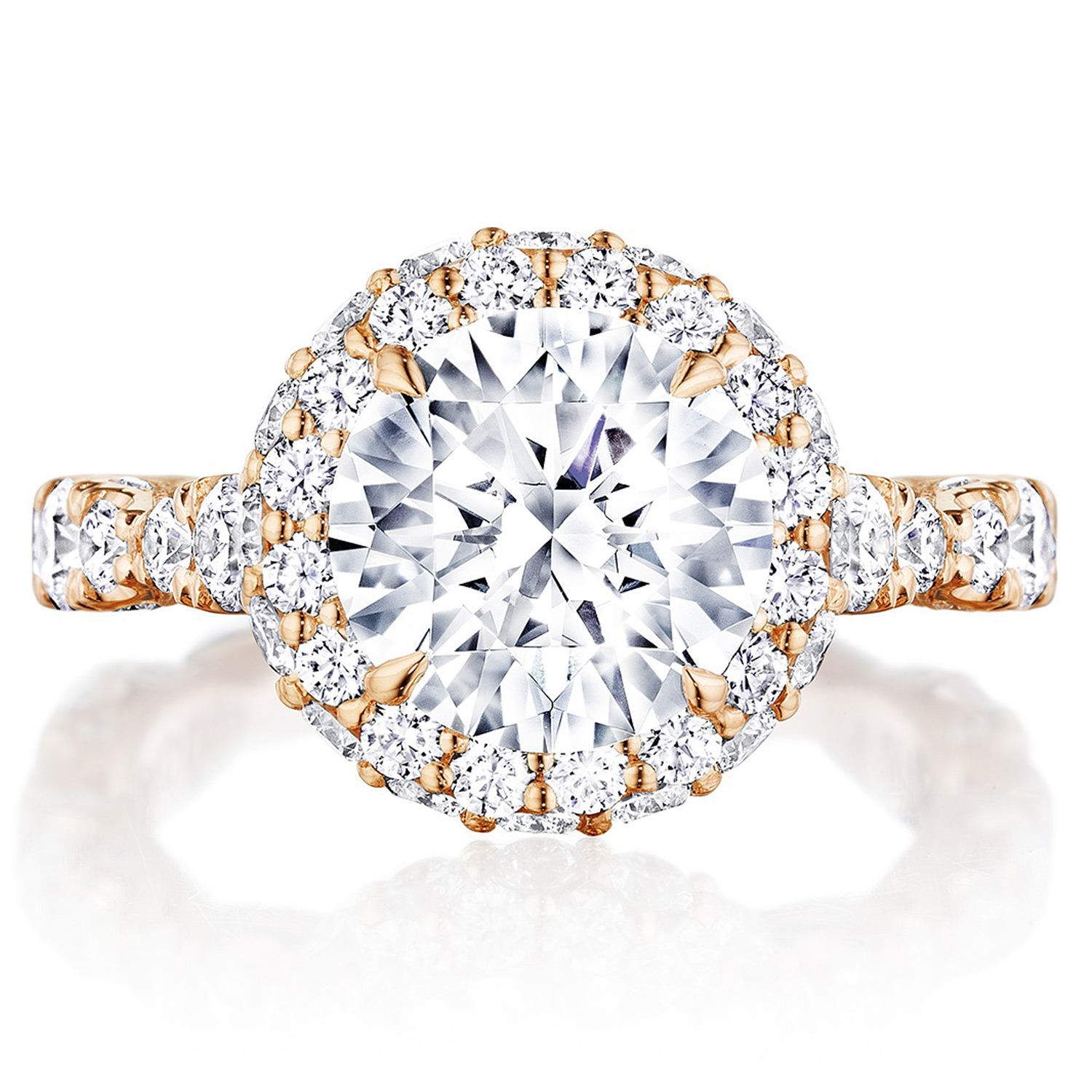 Tacori HT2653RD9PK 18 Karat RoyalT Engagement Ring