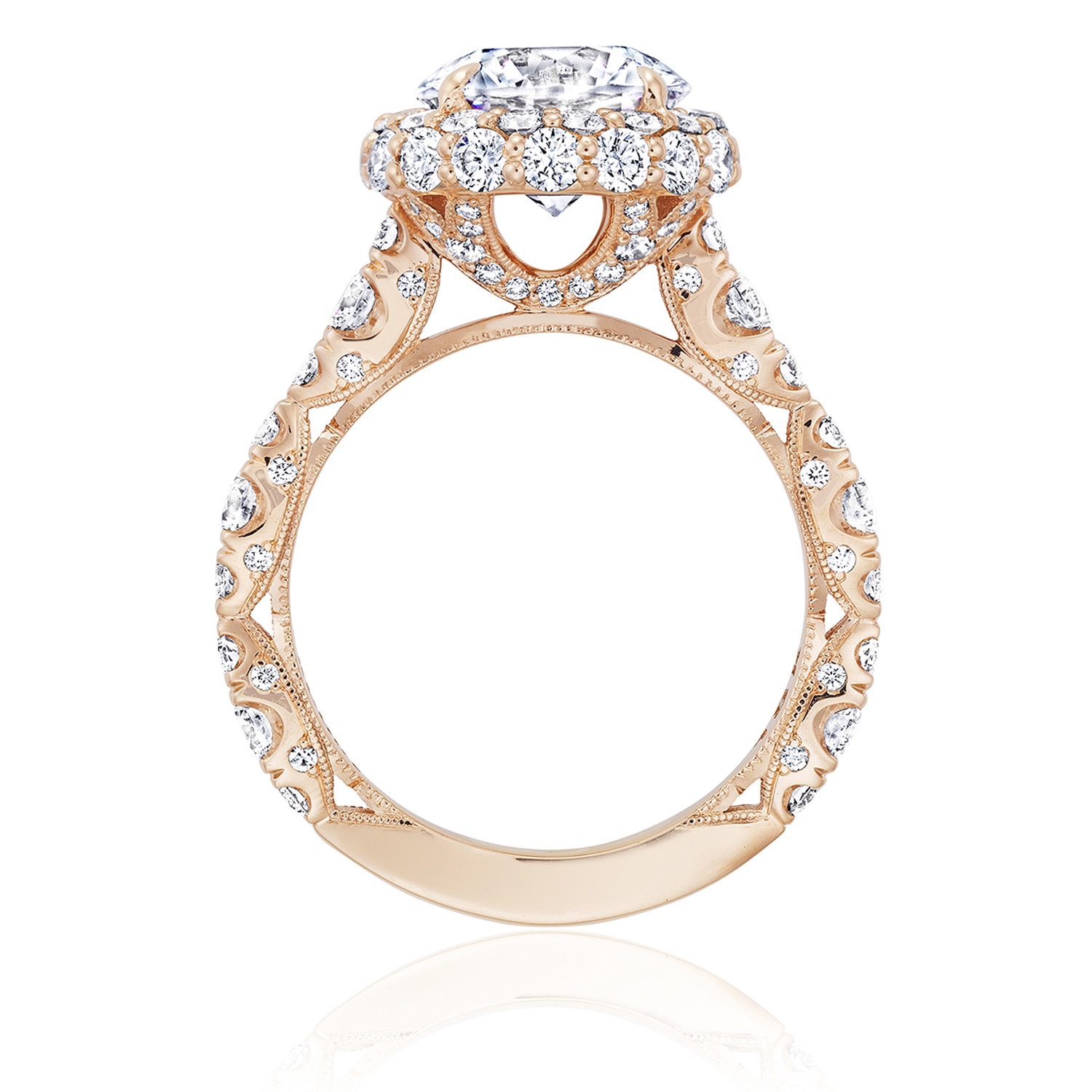 Tacori HT2653RD9PK 18 Karat RoyalT Engagement Ring Alternative View 1
