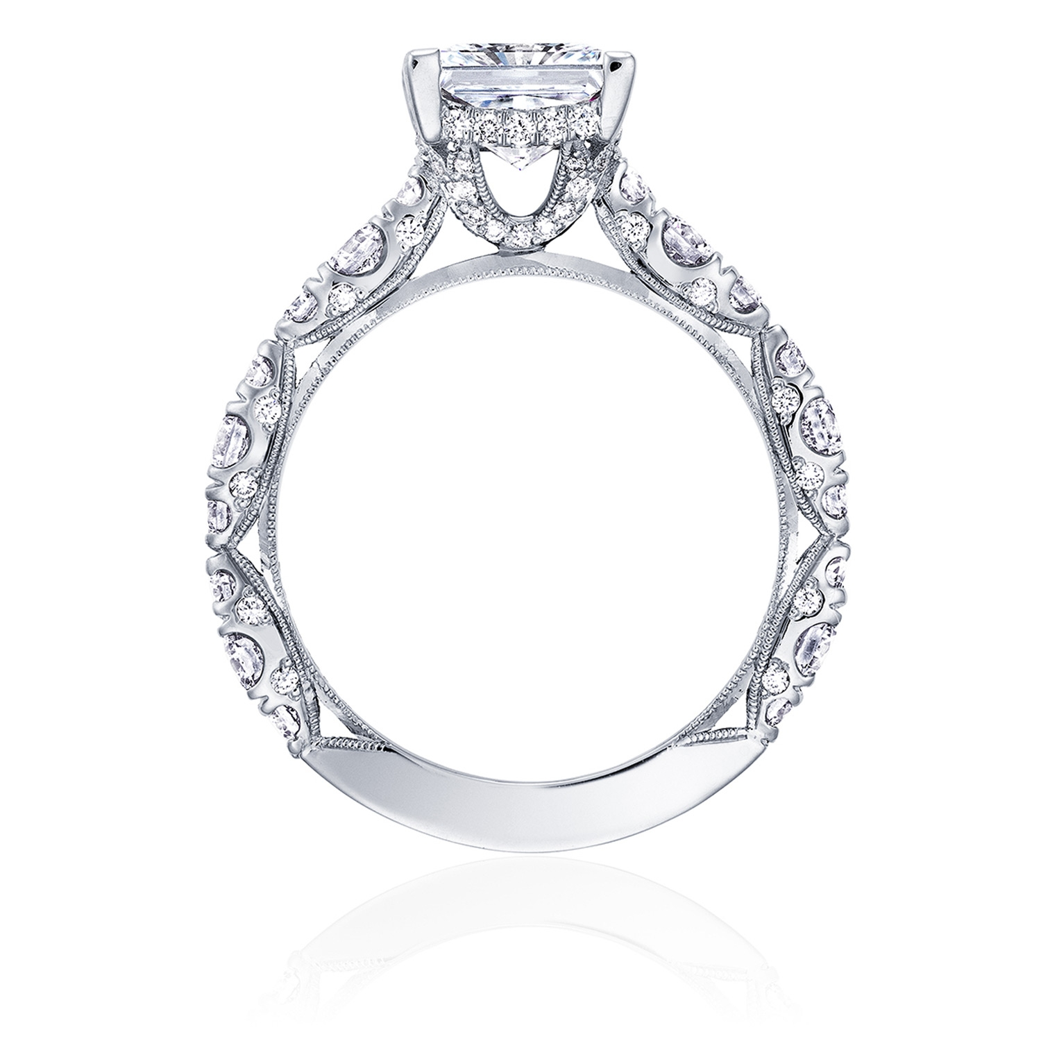 HT2654PR7 Platinum Tacori RoyalT Engagement Ring Alternative View 1