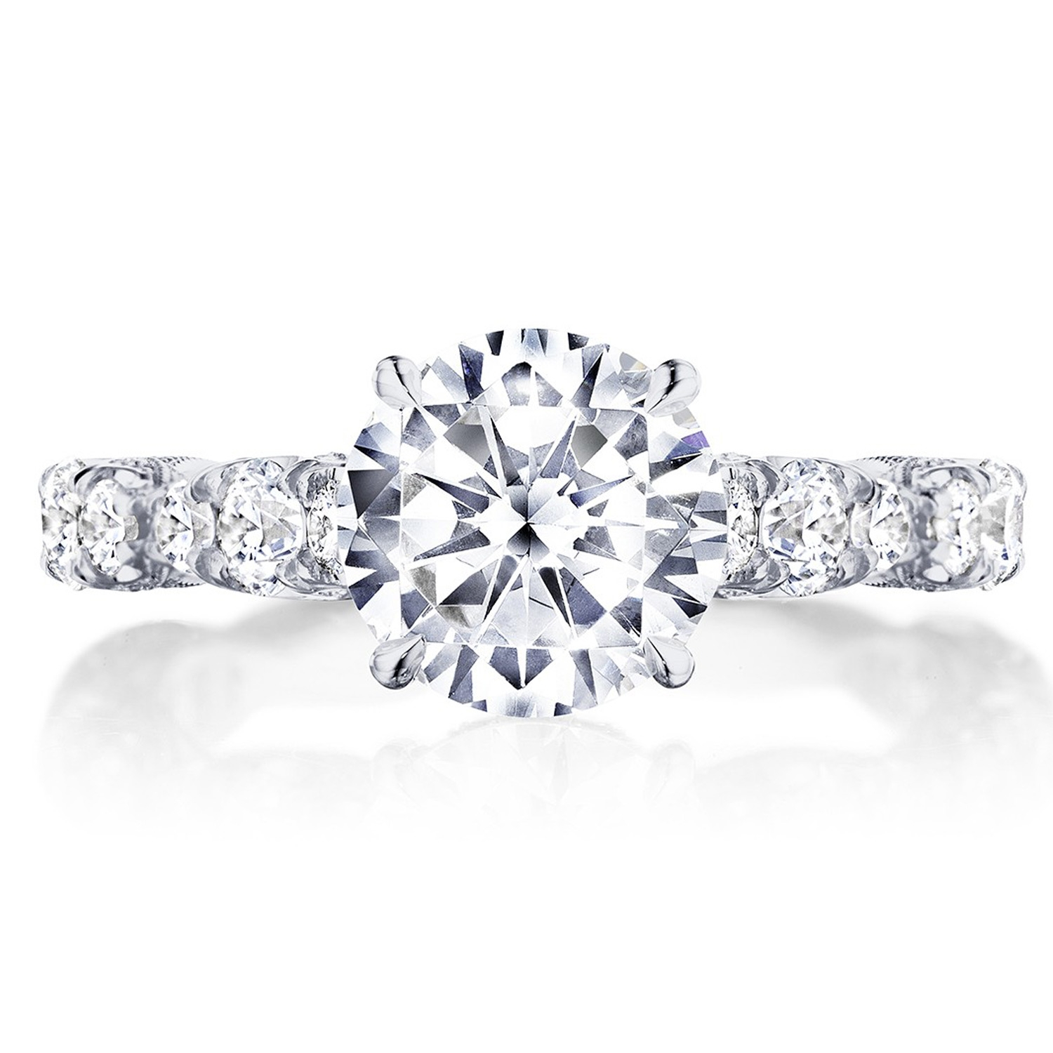HT2654RD8 Platinum Tacori RoyalT Engagement Ring