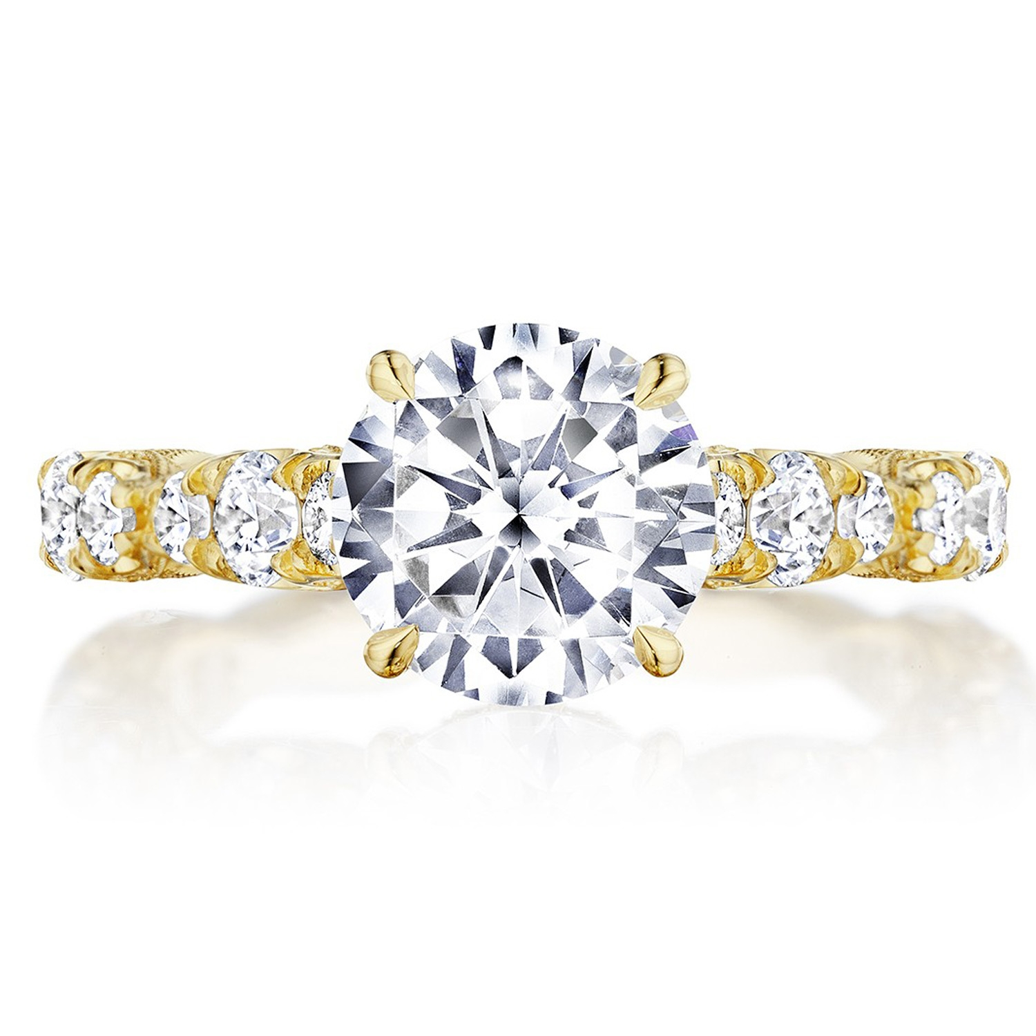 Tacori HT2654RD8Y 18 Karat RoyalT Engagement Ring