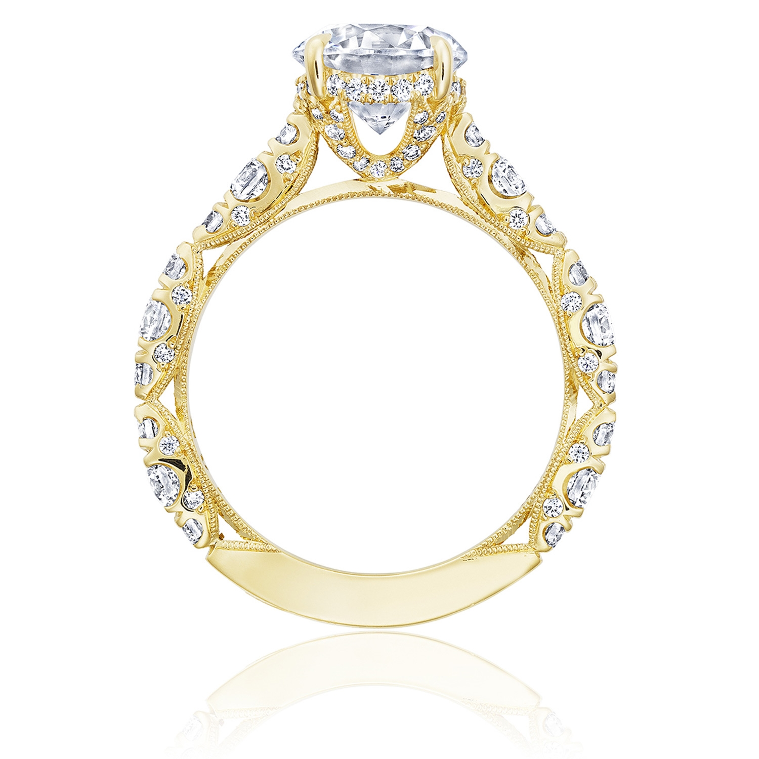 Tacori HT2654RD8Y 18 Karat RoyalT Engagement Ring Alternative View 1