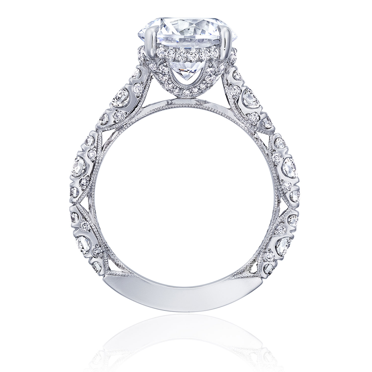 HT2654RD95 Platinum Tacori RoyalT Engagement Ring Alternative View 1