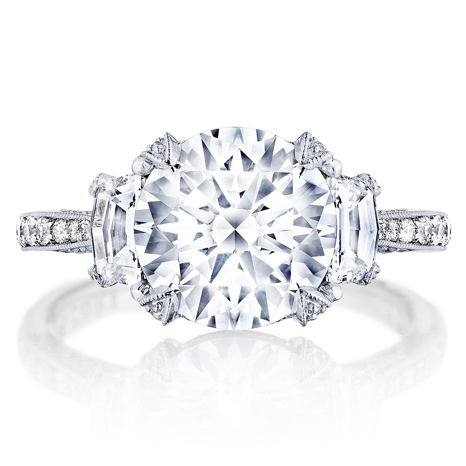 HT2656RD95 Platinum Tacori RoyalT Engagement Ring