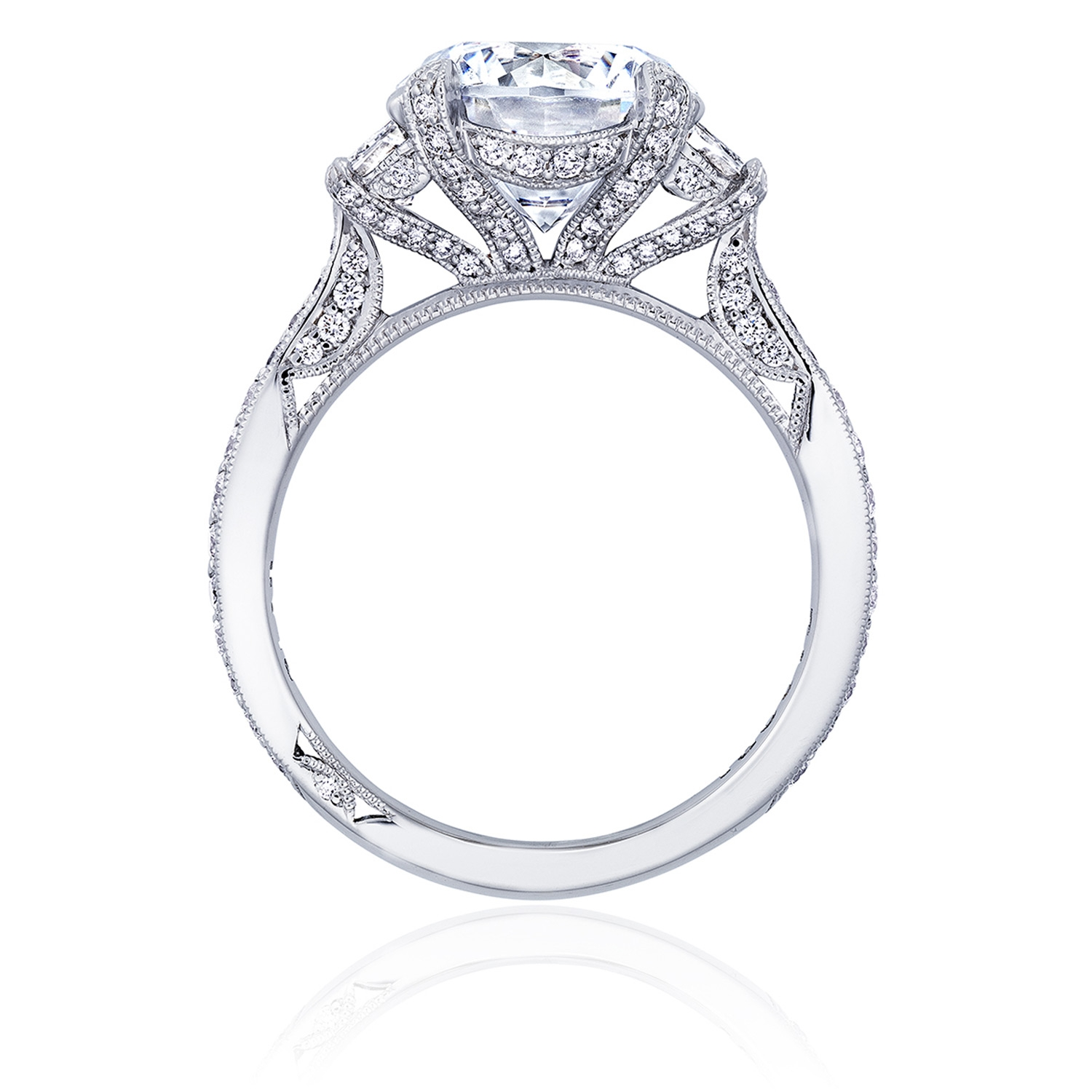 HT2656RD95 Platinum Tacori RoyalT Engagement Ring Alternative View 1