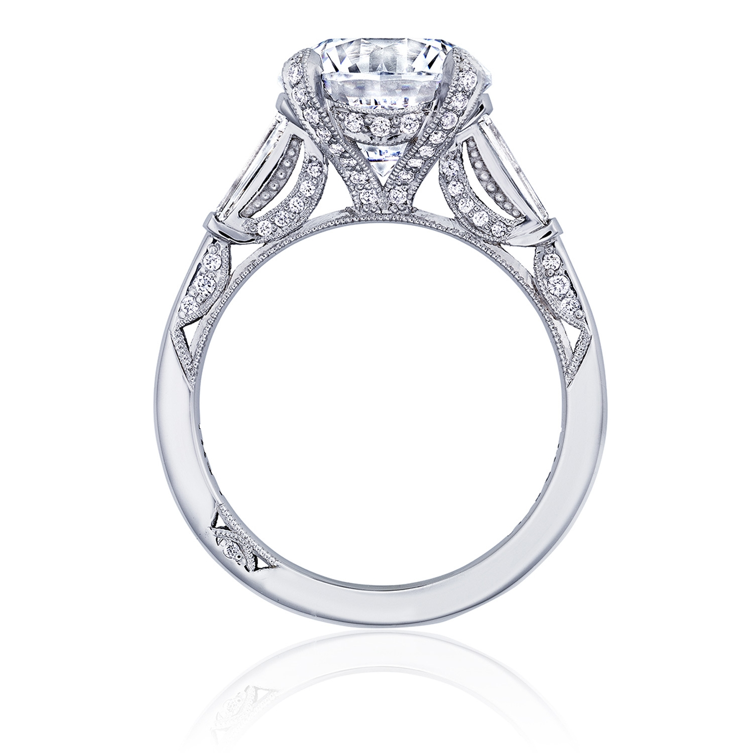 HT2657RD10 Platinum Tacori RoyalT Engagement Ring Alternative View 1
