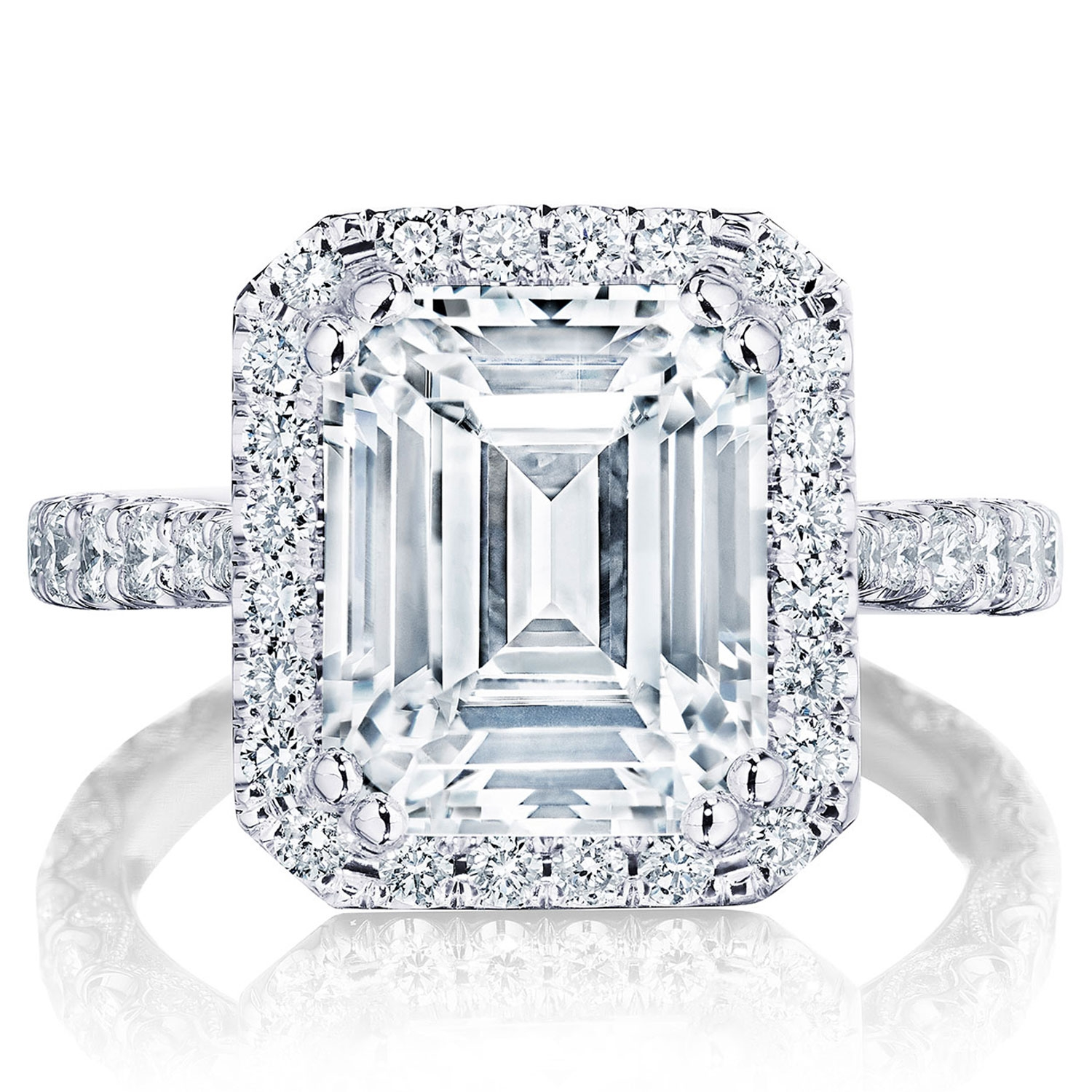 Tacori HT2670EC105X85 Platinum RoyalT Engagement Ring