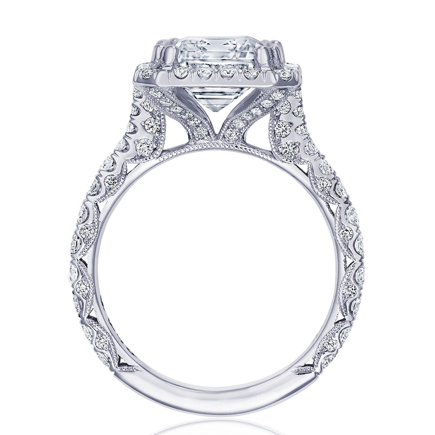 Tacori HT2670EC105X85 Platinum RoyalT Engagement Ring Alternative View 1