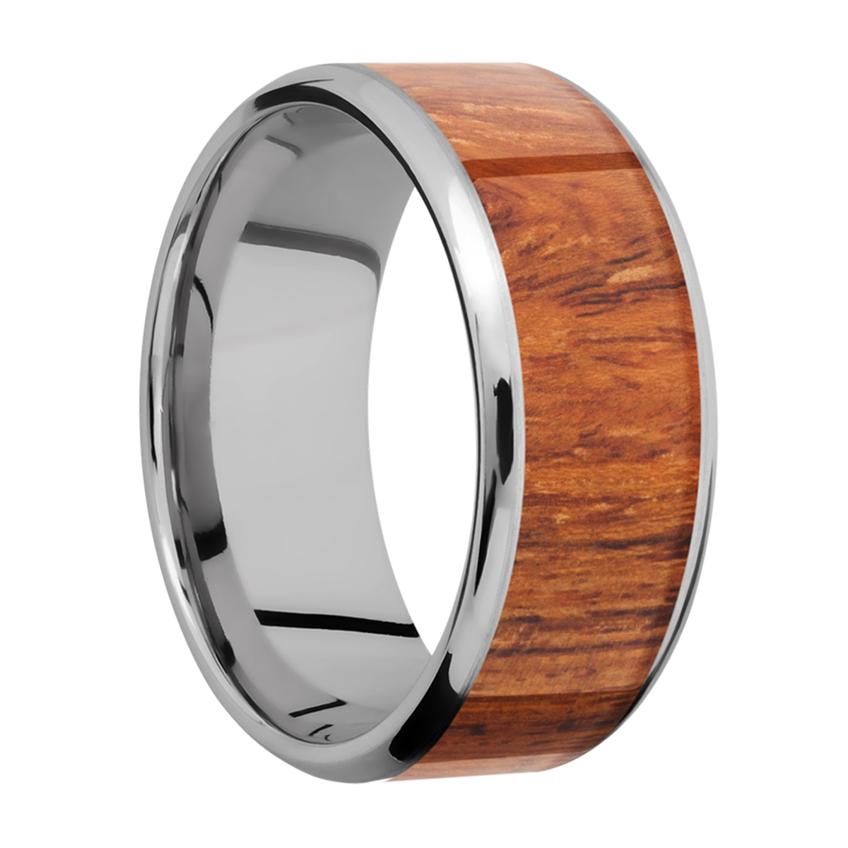Lashbrook 9B17(NS)/HARDWOOD Titanium Wedding Ring or Band Alternative View 1
