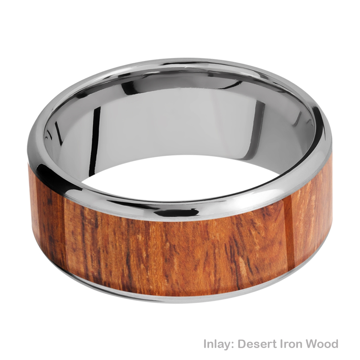 Lashbrook 9B17(NS)/HARDWOOD Titanium Wedding Ring or Band Alternative View 2