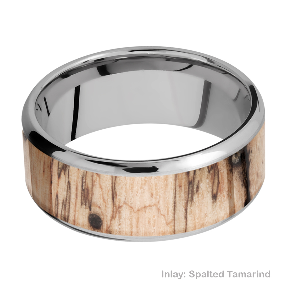 Lashbrook 9B17(NS)/HARDWOOD Titanium Wedding Ring or Band Alternative View 3